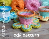 Crochet pattern FLOWER EGGCUP by ATERGcrochet