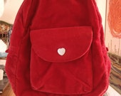 SALE Red Velvet Gap Backpack Purse