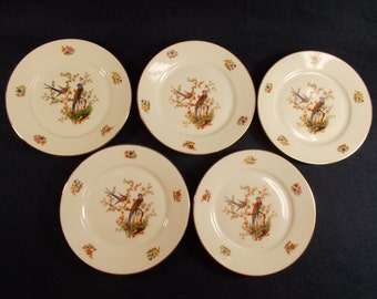 Five Bohemia China The Eaton Bread and Butter Plates