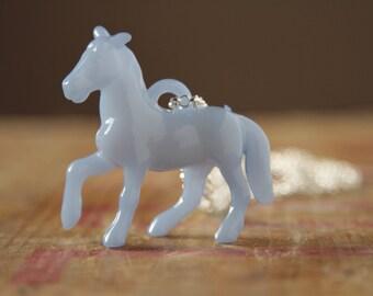 Serenity 15-3919 horse necklace blue pony necklace