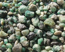 Emerald Crystals, Raw Rough Green Beryl Crystals Stones Mineral Rocks RARE Brazilian 10g, 20g or 50g ~ 3-10mm WHOLESALE Bulk, Jewelry Supply