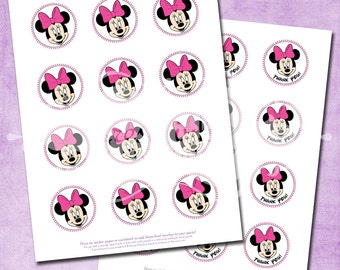 DIY Minnie Mouse Party Circles - INSTANT Download