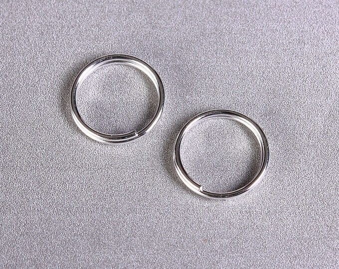 10mm Silver color double loop jumpring round - 30 pieces (1500) - Flat rate shipping
