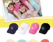 ADULT HATS Soft cotton unstructured twill ball cap in great summer colors   Monogrammed in your choice of font and color