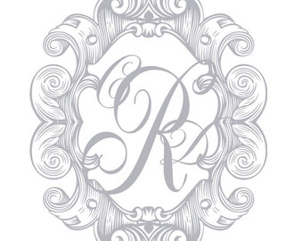 Wedding Monogram Crest Custom Created in Your Wedding Color, Wedding Logo, Personal Monogram, igital Wedding Monogram,Wedding Crest by No. 9