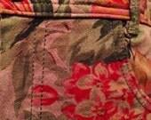 Vintage 80 flowered high waist pencil skirt