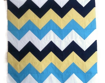 Modern Chevron Baby Quilt, Custom Quilt, Wall Hanging, Crib Quilt, Lap Quilt, Twin Quilt, Geometric Chevron Design