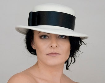 White Felt Hat