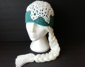 Children's Frozen Elsa Inspired Hat with Braid