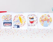 Let's write love! Set of 12 cards (3 of each)