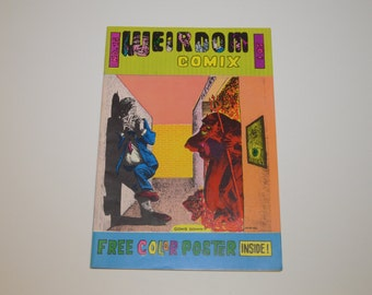 1972 WEIRDOM COMIX Issue 15 with POSTER - .50 cover price, Richard V Corbin, John Williams, Martin Russel, Jim Boxell, Chuck Rodgers