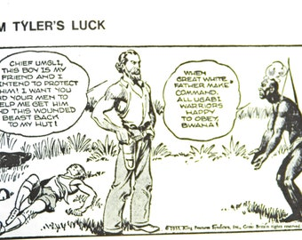 Vintage TIM TYLER'S LUCK by Lyman Young, Anthology of Daily Strips May 15, 1932 - May 6, 1933 - Printed 1971 Italy