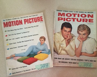 1958 Motion Picture Magazines Set of Two  Janet Leigh Covers May 1958 and November 1958 Hollywood Life Stories  Elvis Buries His Mother