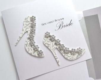 "Wedding Card: ""Bridal Shoes"""