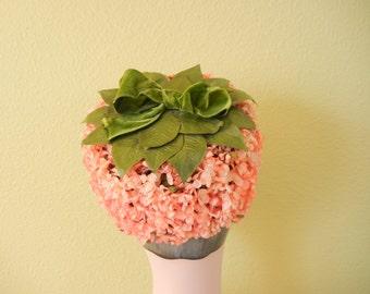 Vintage 1950's Pink Jasmine Flower Pillbox Hat