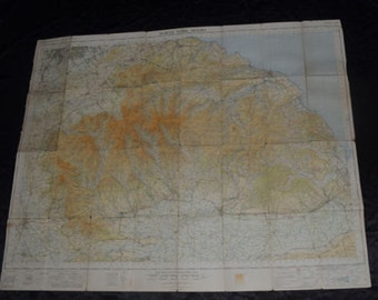 Details about  Vintage OS Ordnance Survey Outdoor One-inch Tourist Map North York Moors 1958