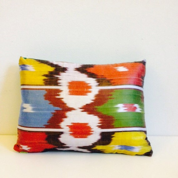 "Cushion Gorgeous Bright Upcycled Cushion Pillow Cover with Zip 16""x14"" (40x35cm) in Cotton"