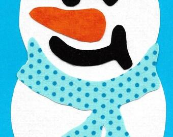 Snowman iron on applique DIY