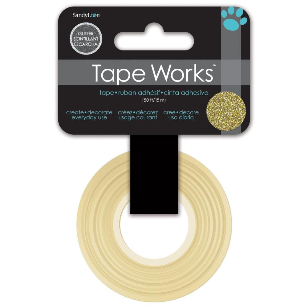 Gold glitter tape by tape works 10 yards by 1 2 inch for for Tape works decorative tape