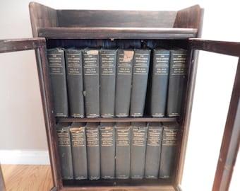 Encyclopedia Britannica - Eleventh Edition - Antique Britannica - Wood Britannica Cabinet - Complete Set with Case