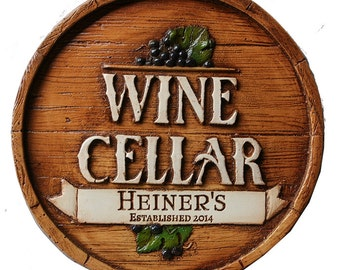 Personalized Wine Cellar Wall Plaque