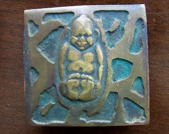 Billiken Mania - Antique Brass Billiken Scarf or Buckle Slide