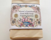 Goat Milk Soap,Vanilla Jasmine Fragrance, Extra Large Bath Bar, Shampoo bar