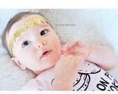 Gold heart headband, gold heart crown, halo, boho, metallic gold, infant headband, toddler headband, Valentine's Day headband