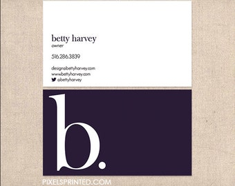 simple minimal business cards - thick, color both sides - FREE UPS ground shipping