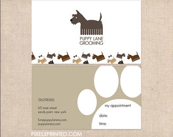 dog grooming DELUXE business cards - thick - FREE UPS ground shipping