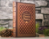 Hollow Book Safe - Classic Poetry (LEATHER BOUND)