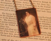Maggie Walker necklace African American First Woman Bank Pres. mixed media jewelry