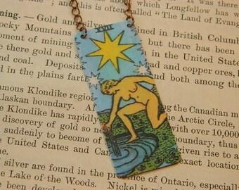 Tarot necklace tarot jewelry The Star mixed media jewelry supernatural