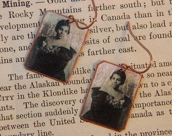 Marian Andersen earrings mixed media jewelry music jewelry