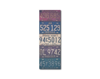 Vintage Indiana License Plates Bookmark | Stocking Stuffer | Gifts Under 5 | Book Lover | Indianapolis