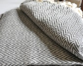 Chevron Pattern Turkish Towel Peshtemal towel in ivory Grey color Cotton Woven