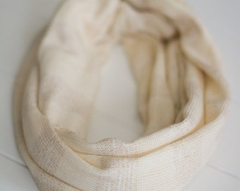 NEW Cream and Metallic Gold Sparkle Knit Infinity Scarf