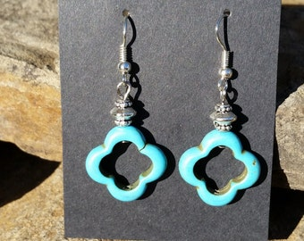 Blue Howelite Earrings