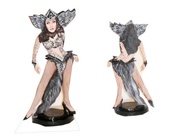 Cher D2K Hand Painted 2D Art Figurine