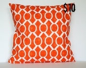 Orange Modern Geometric Pillow Cover - 18 x 18 Decorative Pillow Cover