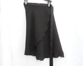 "Adult/Teen Long 17"" Wrap Skirt, Many Colors, Ballet Skirt, Ballet Wrap Skirt, Dance Skirt, Ice Skating Skirt"