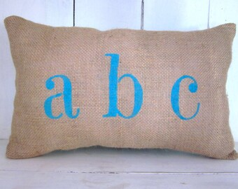 50% OFF SALE  Burlap pillow, dream pillow, word pillow, shabby chic, farmhouse decor, decorative pillow, accent pilow, inspirational pillow