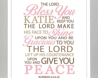 Christening gift - Numbers 6:24-26  - Print