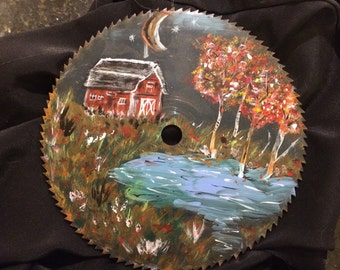 Harvest Moon - Original Saw Painting