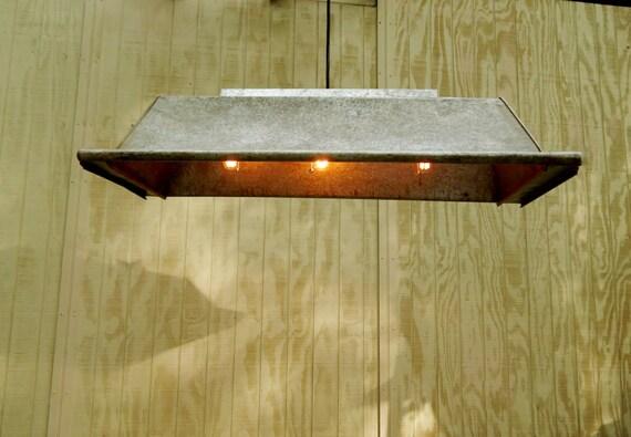 Billiard table light feed trough galvanized restaurant light for Pool table light plans