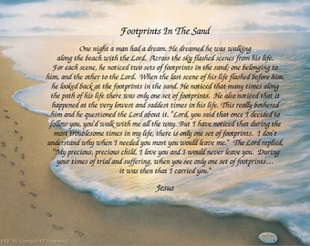 FOOTPRINTS in the Sand Gift and Keepsake