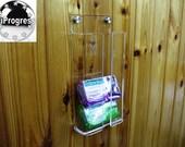 Shower Bathroom Kitchen Clear Transparent Acrylic Wall Door Holder Organizer.