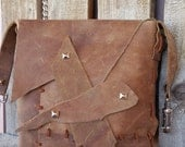 Small Handmade Fawn Leather Purse
