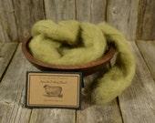 Sedum - Needle Felting  Wool - Natural Wool Roving -Wet Felting Wool-Nuno Felting