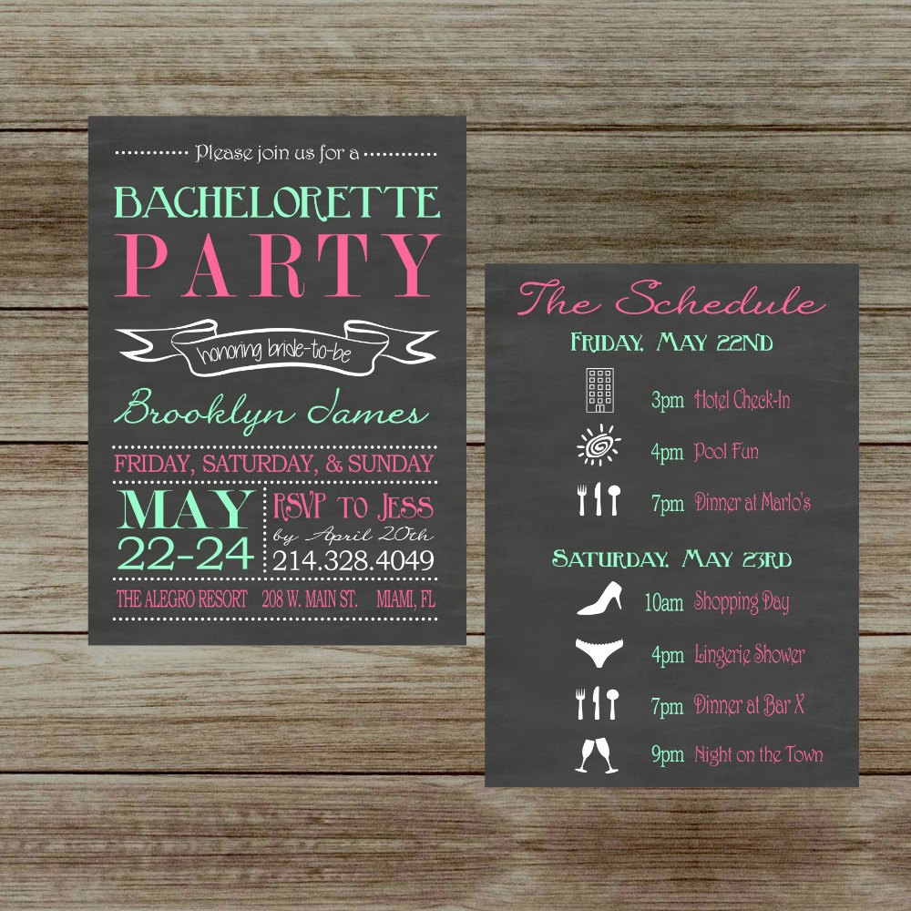 free online bachelorette party invitations templates - Home Design Ideas
